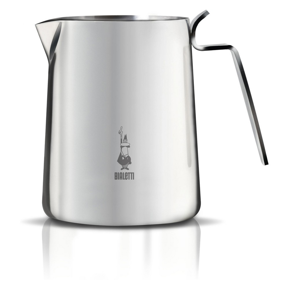 Bialetti Frothing Pitcher - Silver Enjoy your favorite specialty drinks with Bialetti Stainless Steel frothing pitcher. The frothing pitcher is great for steaming milk or producing thick, rich frothed milk in seconds. Combine with a cappuccino, latte, or hot chocolate and enjoy in the comfort of your own home. Color: Silver.