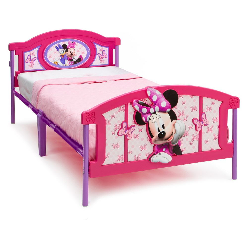 Disney Minnie Mouse 3D Twin Bed - Delta Children, Multi-Colored