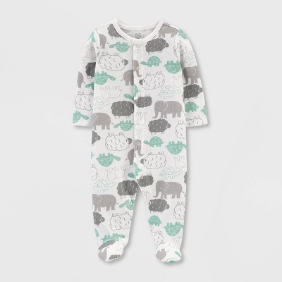 Babys' Elephant,Turtle Interlock Sleep 'N Play - Just One You® made by carter's White Newborn