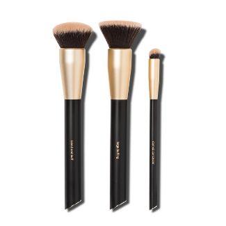 Sonia Kashuk™ Flawless Foundation Professional Brush Set Black - 3pc