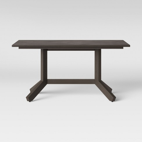 "60"" Newfield Rectangle Farmhouse Dining Table Reclaimed Oak Brown - Threshold™ - image 1 of 4"