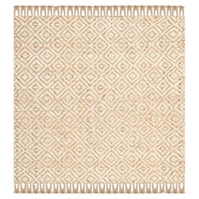 Elle Natural Fiber Area Rug - Natural / Ivory (8' X 8')- Safavieh