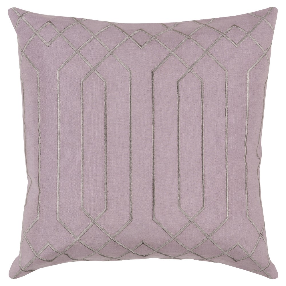 Mauve (Pink) Geometric Lines Throw Pillow 20