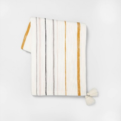 Throw Blanket Multi Stripe - Hearth & Hand™ with Magnolia