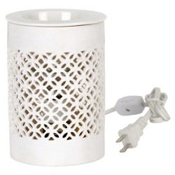 Electric Fragrance Warmer Lattice White - Home Scents By Chesapeake Bay Candle