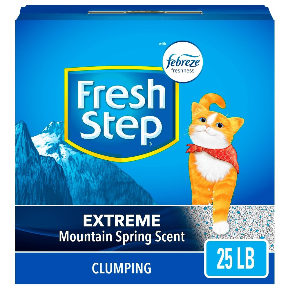 Fresh Step Extreme Scented Litter with the Power of Febreze Clumping Cat Litter - Mountain Spring - 25lb Buy