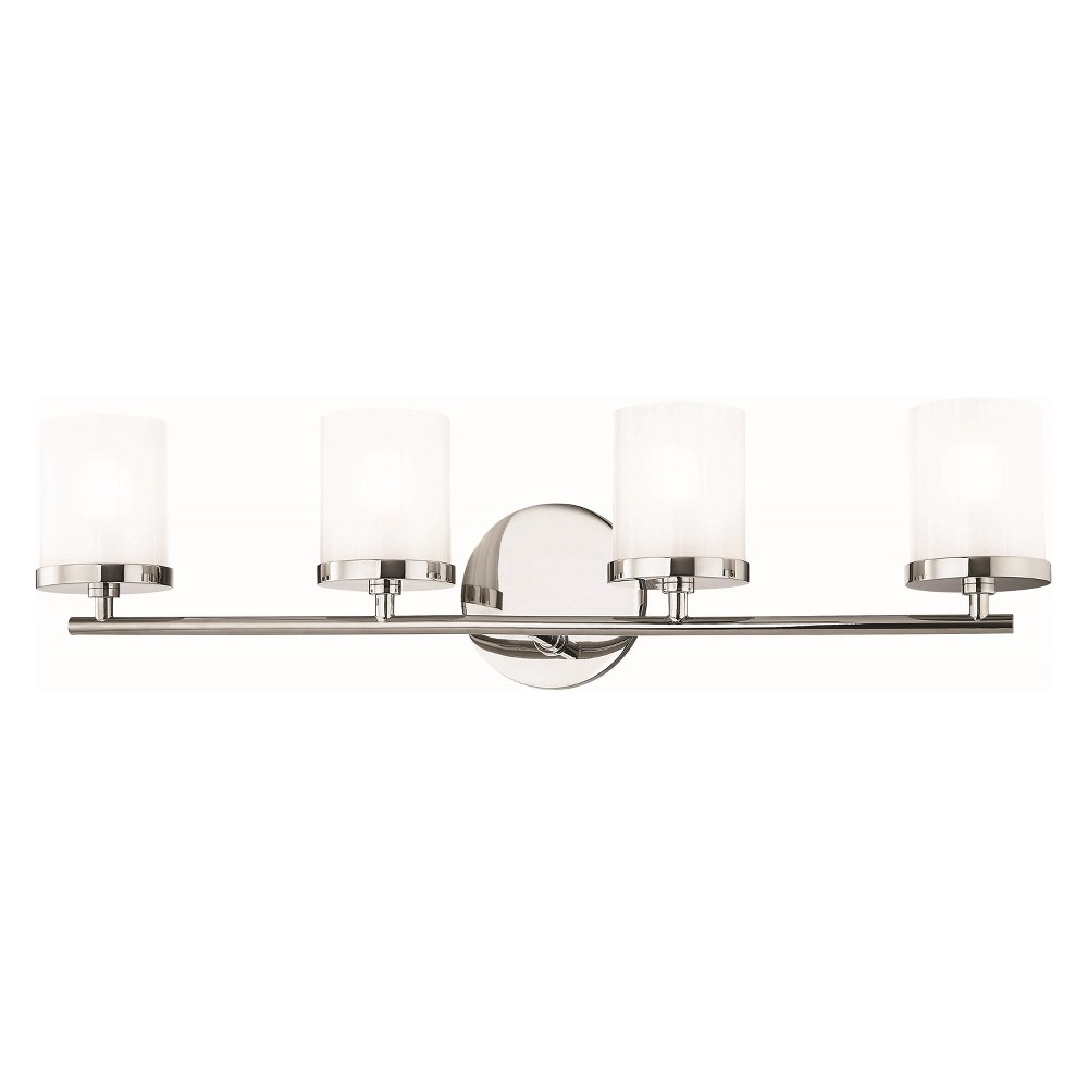 4pc Ryan Bath Light Brushed Nickel - Mitzi by Hudson Valley
