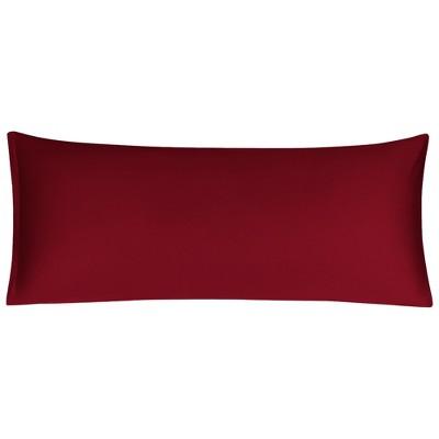 1 Pc Body Egyptian Cotton Soft with Zipper Pillowcase Dark Red - PiccoCasa
