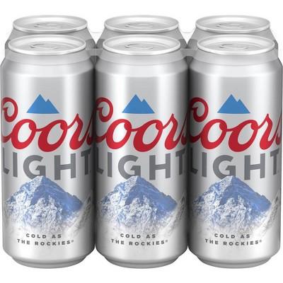 Coors Light Beer - 6pk/16 fl oz Cans