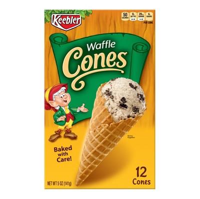 Ice Cream Cones & Toppings: Keebler Waffle Cones
