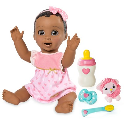 Luvabella Responsive Baby Doll with Realistic Expressions and Movement - Dark Brown Hair