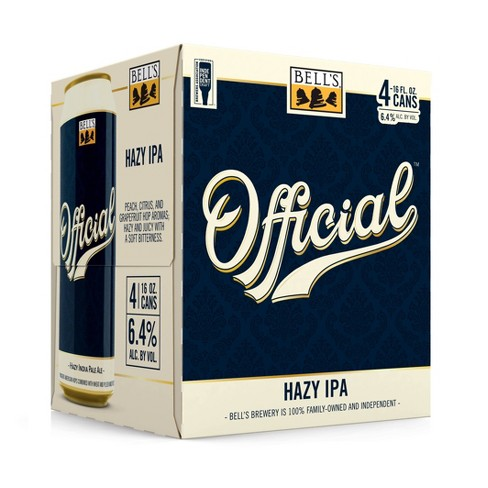 Bell's Official Hazy IPA Beer - 4pk/16 fl oz Cans - image 1 of 2