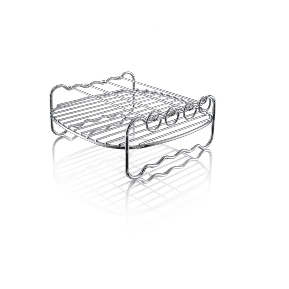 Image of Philips Airfryer Double Layer Rack with Skewers - HD9904/00, Silver