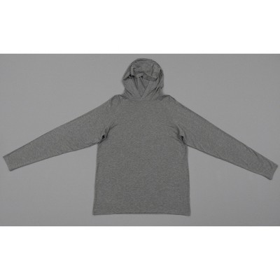 Hanes Men's Hooded Athletic Pullover - Light Gray Heather