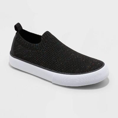 Girls' Nicky Slip-On Apparel Sneakers - Cat & Jack™