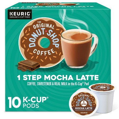 10ct The Original Donut Shop Mocha Latte Keurig K-Cup Coffee Pods Flavored Coffee Dark Roast