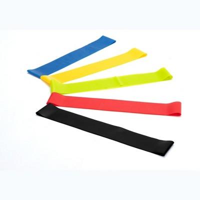 Mind Reader Resistance Loop Resistance Exercise Bands For Home Fitness, Set of 5, Multi-Color