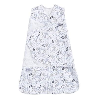 HALO Innovations Sleepsack 100% Cotton Swaddle Wrap - Blue Floral Newborn