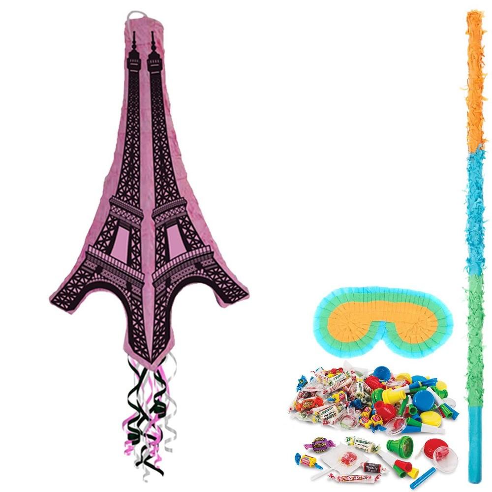 Eiffel Tower 3D Pinata Kit, Multi-Colored