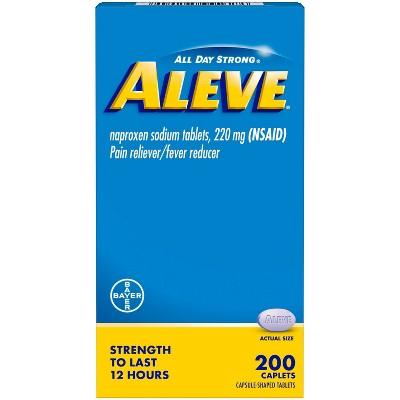 Aleve Acetaminophen Naproxen Caplets (NSAID) - 200ct