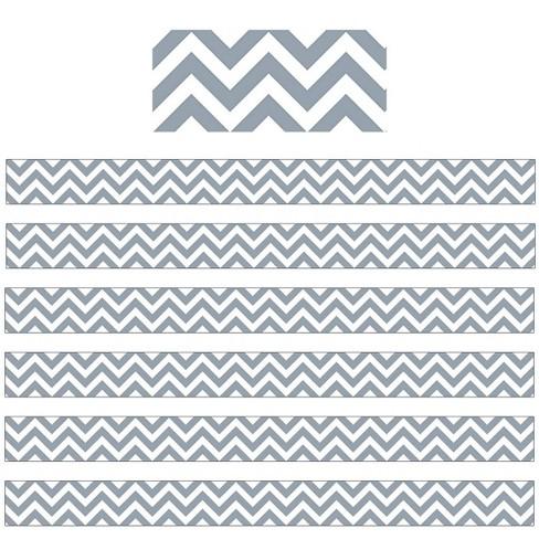 6pk 35ft Chevron Classroom Borders Slate Gray - Creative Teaching Press - image 1 of 1