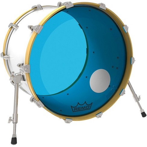 P3 Resonant Blue Remo Drum Head Powerstroke Edh2i9 Colortone With 5 Bass Qdsthr
