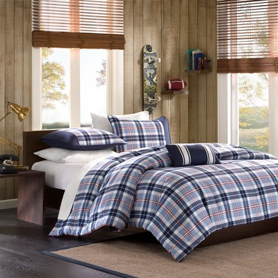 Lance Plaid Comforter Set