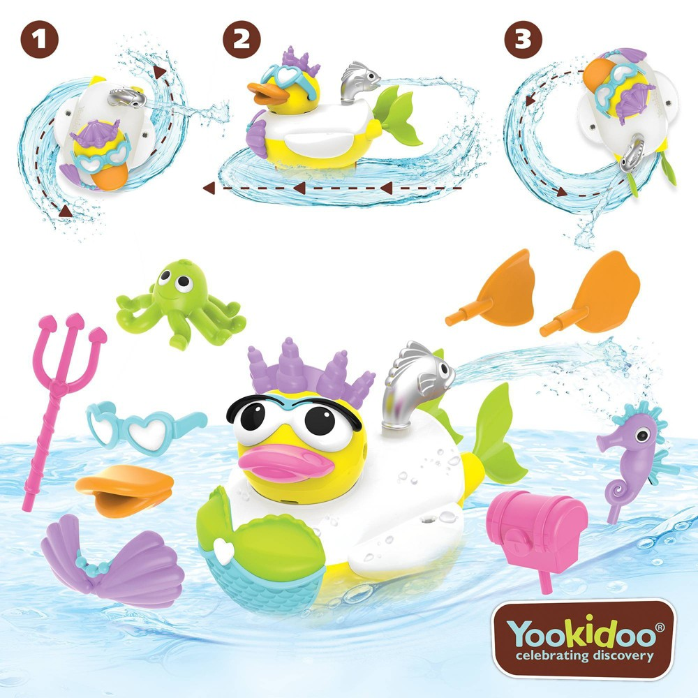 Image of Yookidoo Jet Duck - Create Mermaid Bath Toy