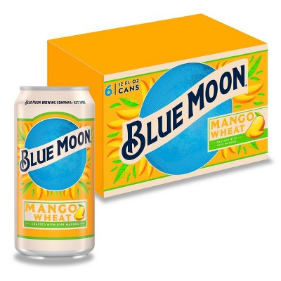 Blue Moon Mango Wheat Ale Beer - 6pk/12 fl oz Cans