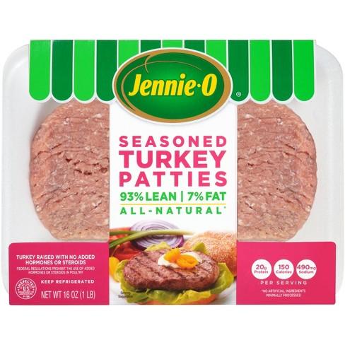Jennie-O All-Natural 93/7 Seasoned Turkey Patties - 4ct/16oz - image 1 of 4