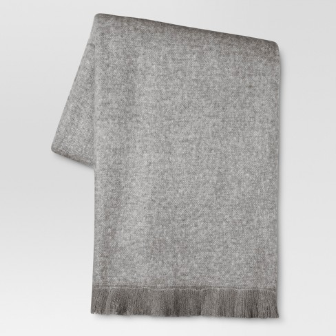 "Faux Mohair Throw Blanket (50""x60"") - Threshold™ - image 1 of 1"