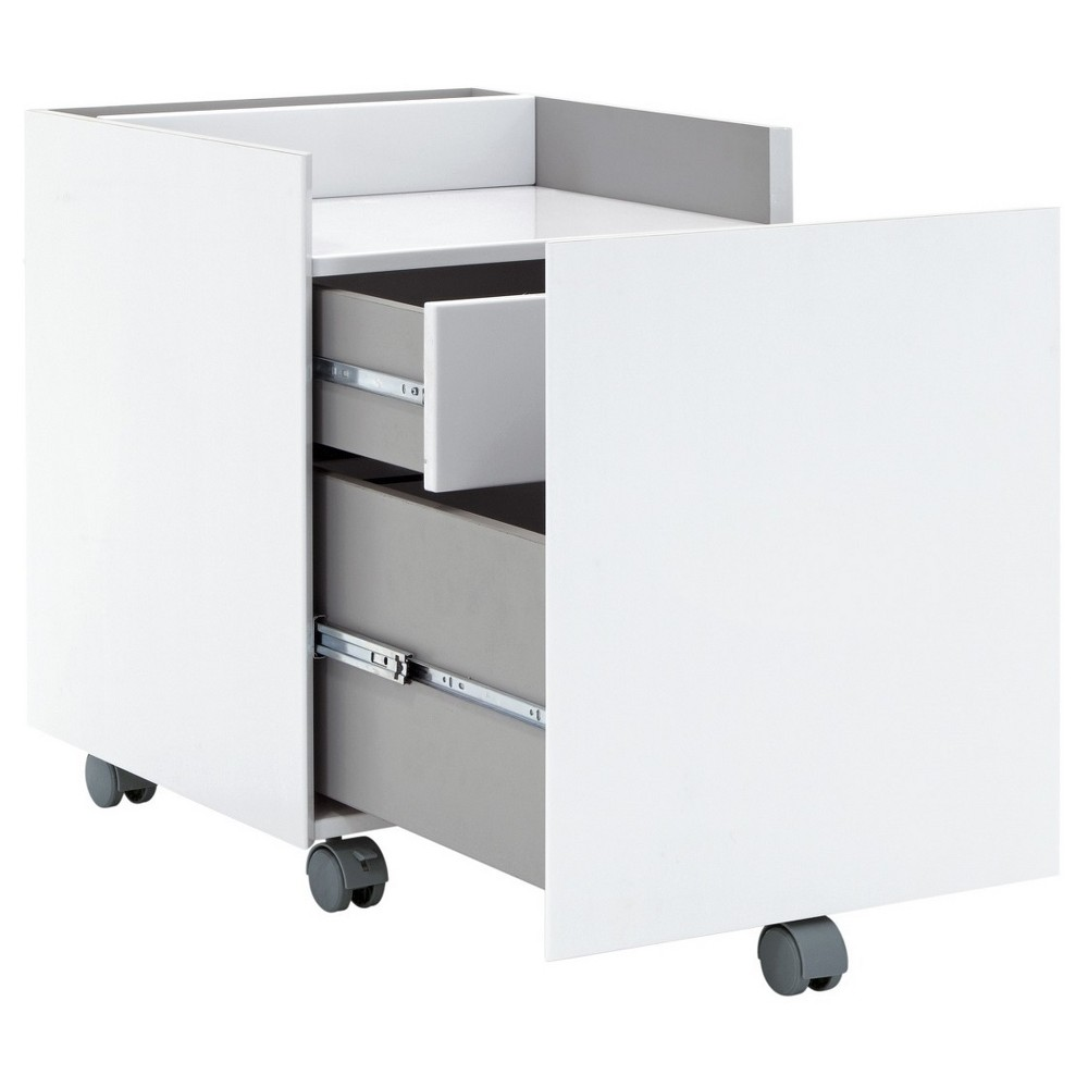 Image of Niche Mobile File Cabinet with 2 Locking Drawers White - Calico Designs