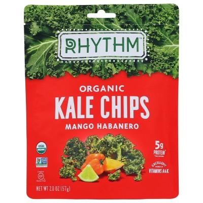 Rhythm Super Foods Mango Habanero Kale Chips 2oz 12 pk