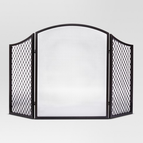 Lexington Fireplace Screen Black - Threshold™ - image 1 of 1