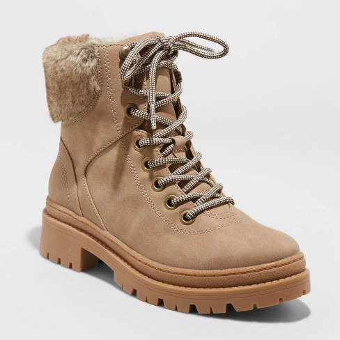 Women's Marissa Lace-Up Hiking Boots - Universal Thread™ Taupe - image 1 of 3