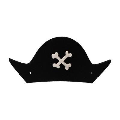 6ct Pirate Cove Wearable Felt Hat White/Black - Spritz™