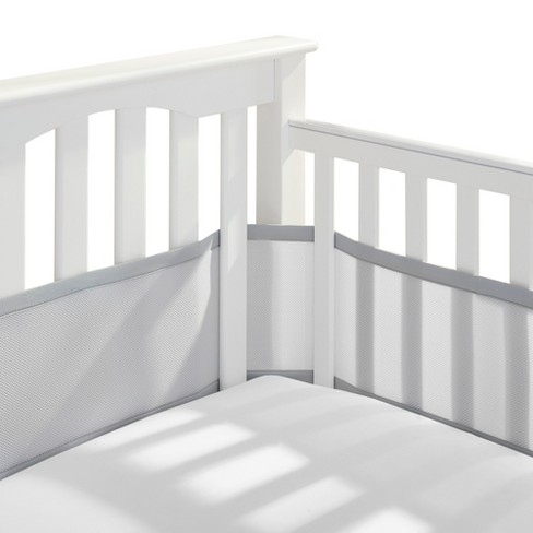 Breathable Baby Solid Mesh Crib Liner - Gray - image 1 of 4