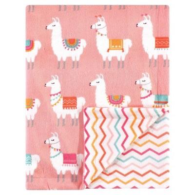 Hudson Baby Unisex Baby Plush Mink Blanket - Llama One Size