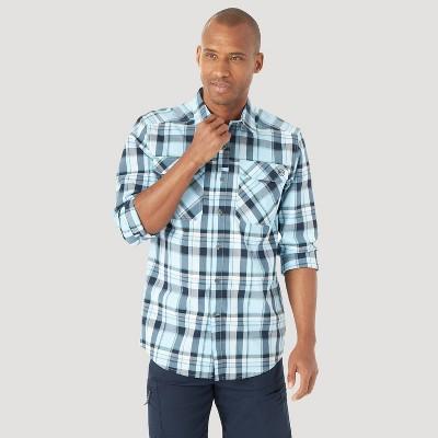 Wrangler Men's ATG Plaid Classic Fit Button-Down Shirt