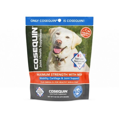 Cosequin Glucosamine & Omega 3 Soft Chewable Supplements for Dogs - Beef - 60ct