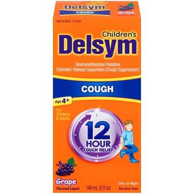 Children's Delsym Cough Relief Liquid - Dextromethorphan - Grape - 5 fl oz