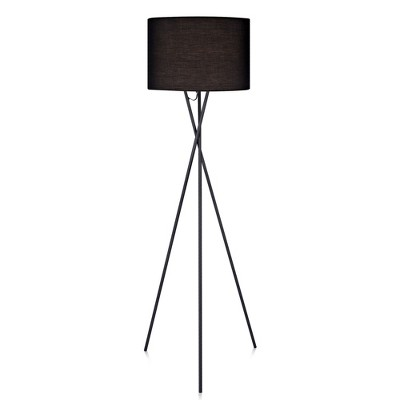 Versanora   Cara Tripod Floor Lamp With Black Shade (Lamp Only) by Shop This Collection