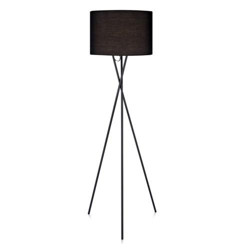 Versanora Cara Tripod Floor Lamp With Black Shade Lamp Only Target