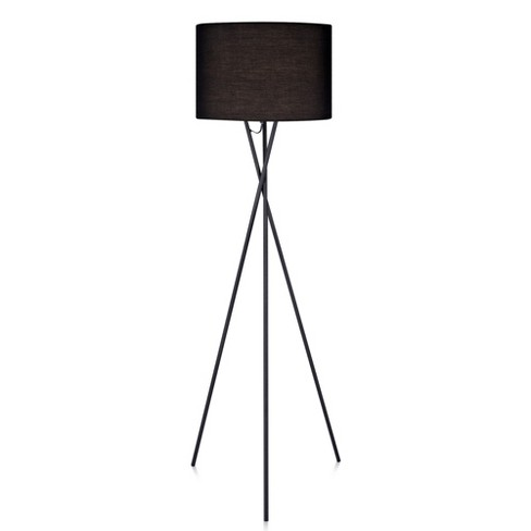 "62"" Cara Tripod Floor Lamp with Black Shade - Versanora - image 1 of 4"