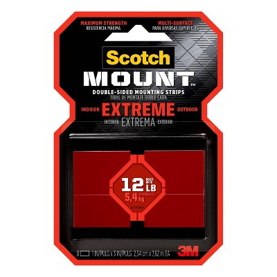 """Scotch 1"""" x 3"""" Extremely Strong Mounting Strips"""