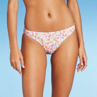 Juniors' Ribbed Cheeky Bikini Bottom - Xhilaration™ Floral Print