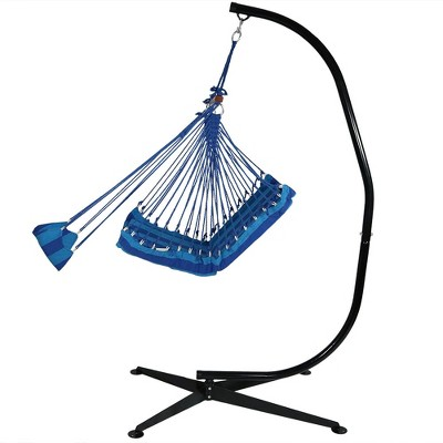 Hanging Padded Cushioned Hammock Chair With Footrest And Stand   Beach  Oasis   Sunnydaze Decor : Target