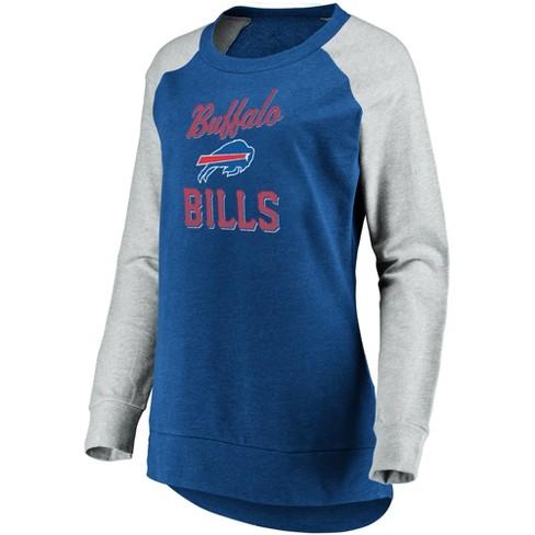 NFL Buffalo Bills Women's Brushed Tunic/ Gray Crew Neck Fleece Sweatshirt - image 1 of 2
