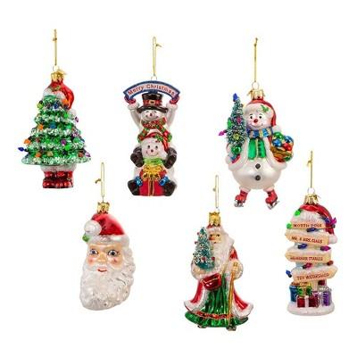 Jewel Tone Headbands Christmas Ornament 6 Piece Set