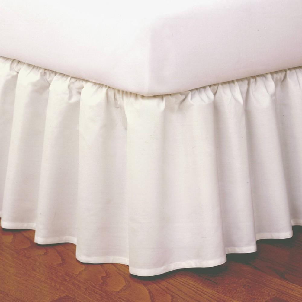 Image of Magic Skirt Ruffled California King Bed Skirt Ivory